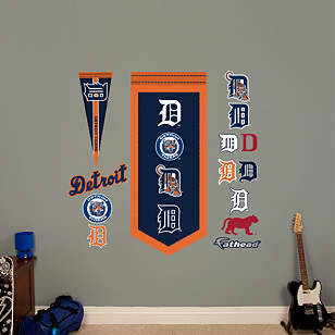 Detroit Tigers Logo Evolution Banner